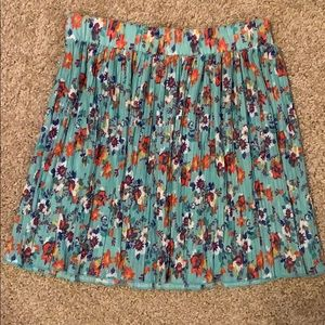 Zara Small Pleat Floral Mini Skirt